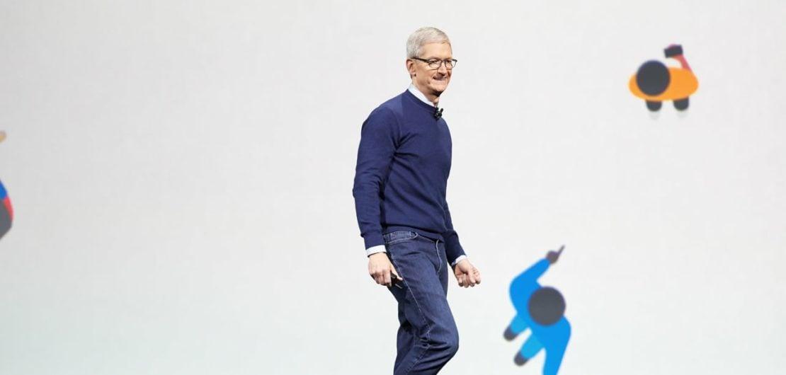 Apple WWDC18 Tim Cook iOS macOS tvOS watchOS