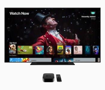 Apple TV 4k tvOS screen