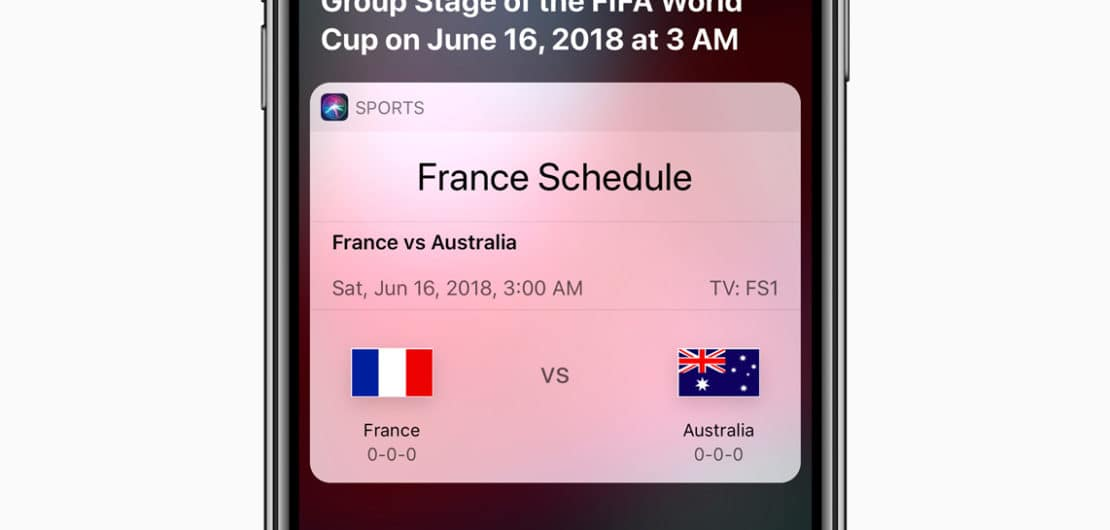 iPhone X Siri World Cup Soccer News