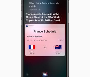 iPhone X Siri World Cup Soccer News