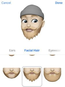 memoji ios 12 beard