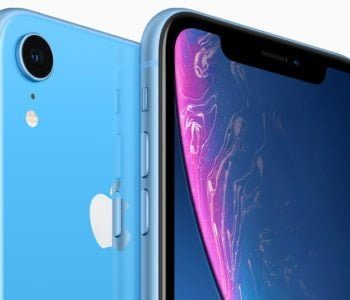 iPhone XR blue back