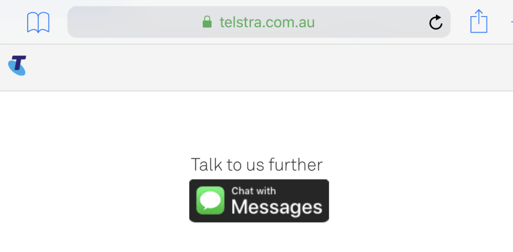Apple Business Chat Telstra
