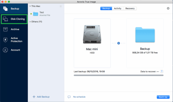 Acronis True Image 2019 Mac Software backup